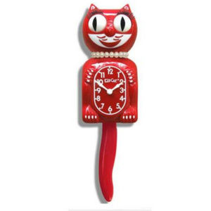 Urban Outfitters Scarlet Red Lady Kit-Cat Clock